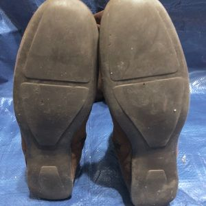 Bloomingdale's Shoes - Knee High Flat Sole Brown Suede Boots: Size 6-6.5